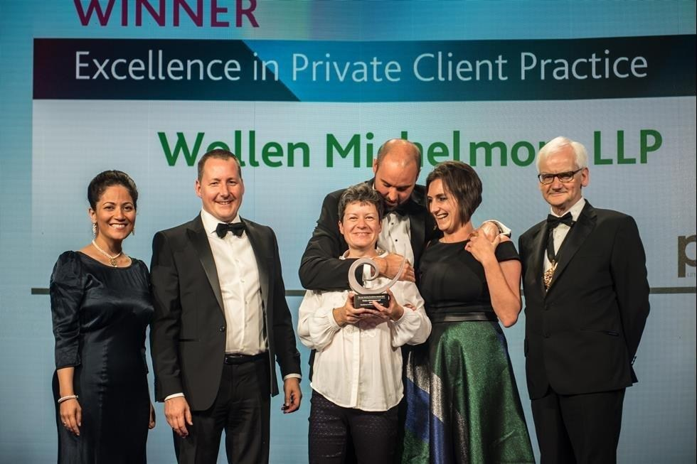 Congratulations to Wollen Michelmore - Winner of The Law Society's Excellence in Private Client Practice Award